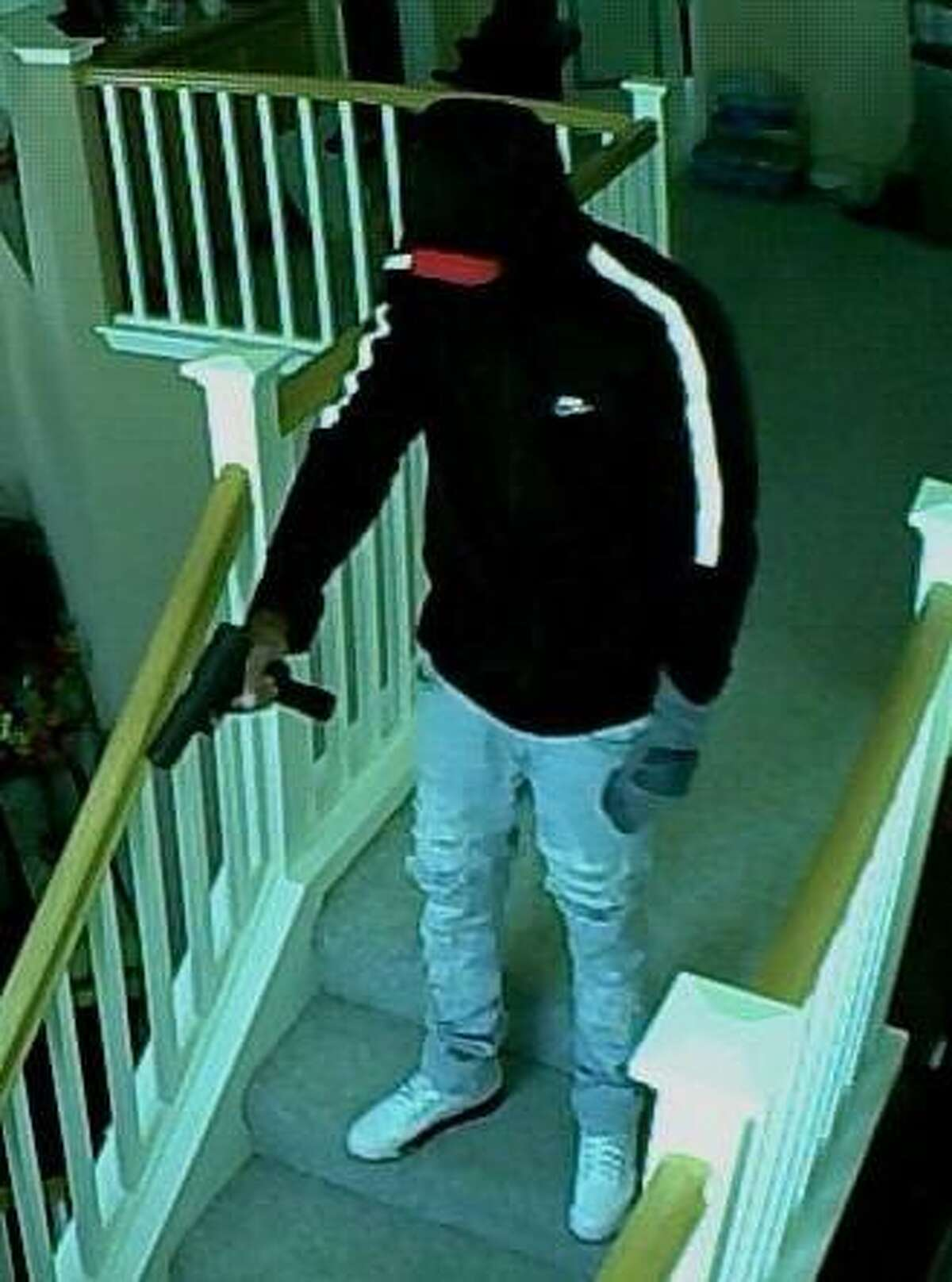 Police are searching for two armed suspects who fled after robbing a home in Hayward on Monday.