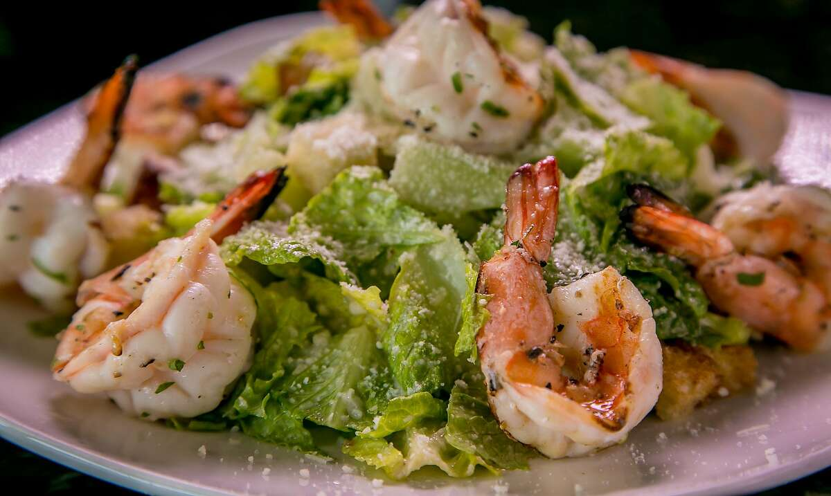 The Caesar Salad with Prawns at the Original U.S. Restaurant in San Francisco, Calif. is seen on Saturday, February, 13th, 2016.