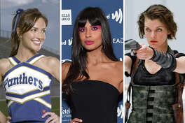 Actresses Minka Kelly, Jameela Jamil and Milla Jovovich are pictured in this composite photo.