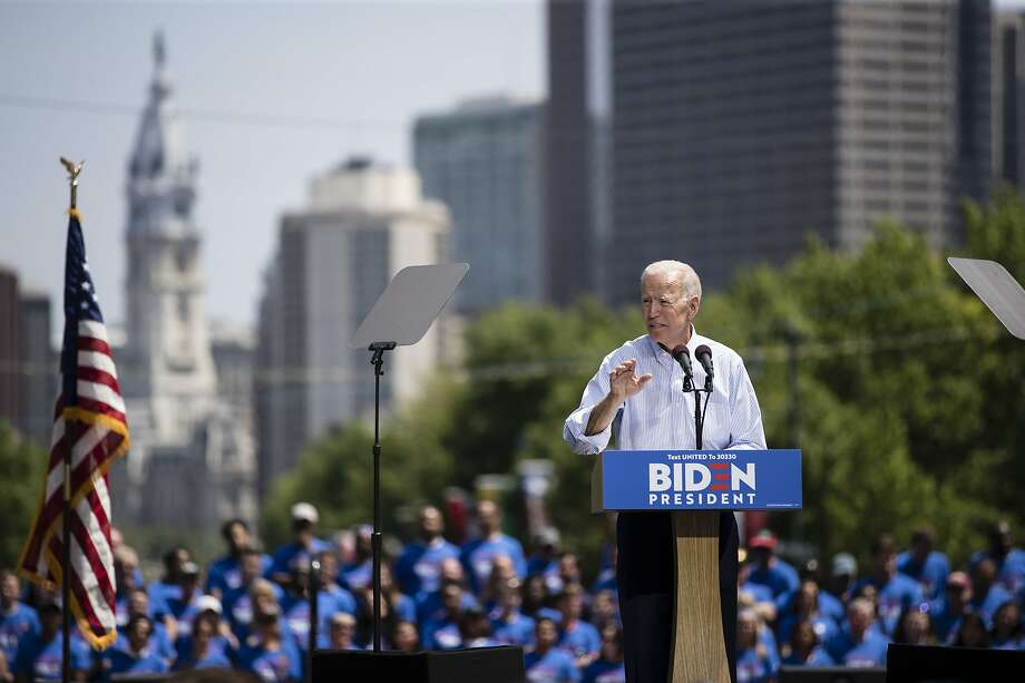 Democratic presidential candidate, former Vice President Joe Biden during a campaign rally at Eakins Oval in Philadelphia, Saturday, May 18, 2019. (AP Photo/Matt Rourke) Photo: Matt Rourke / Associated Press