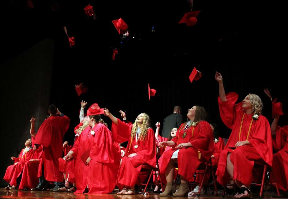 Scenes from Caseville's graduation, which was held on Saturday. Photo: Andrew Mullin/Huron Daily Tribune