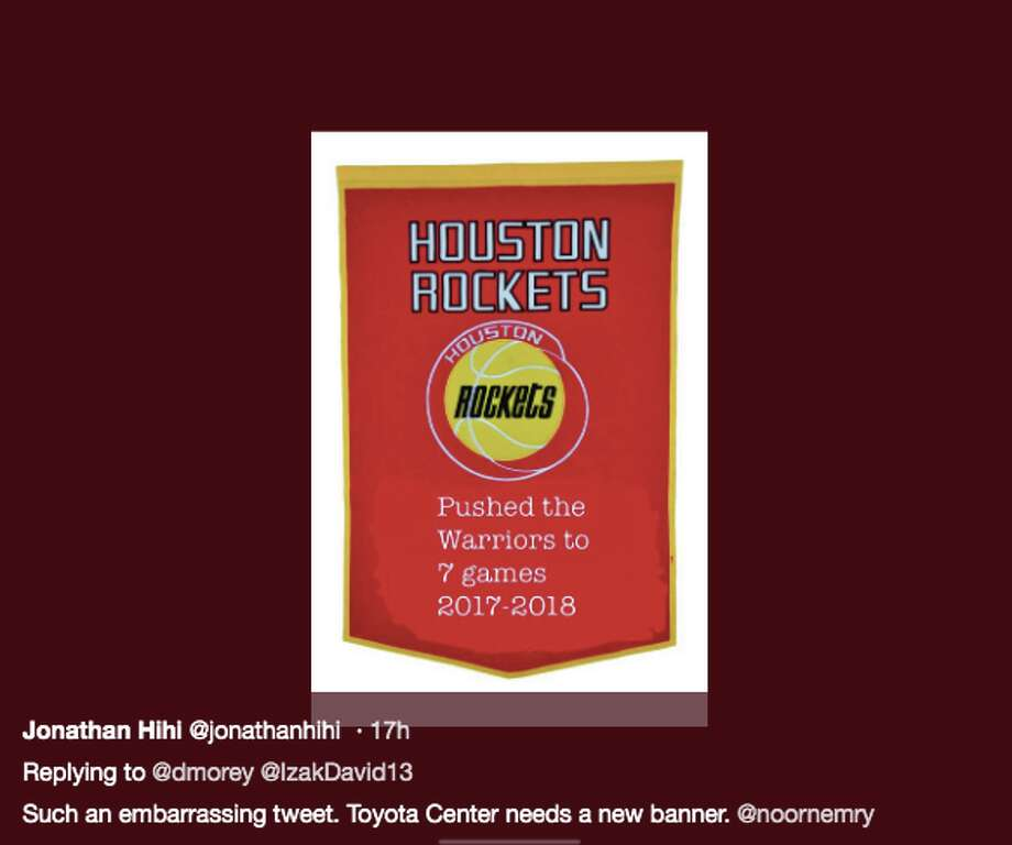 e3e0ee04fc0 Daryl Morey s ill-advised tweet about the Rockets  record against the  Warriors was widely