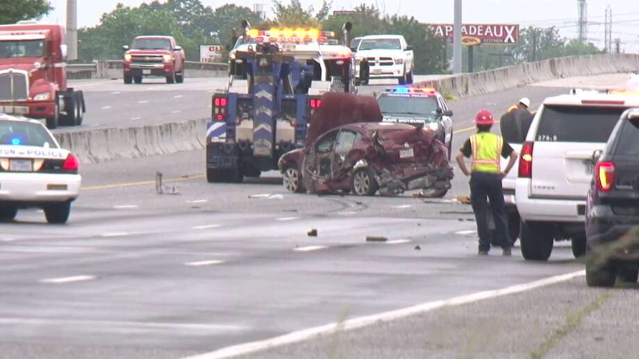 A deadly crash involving an 18-wheeler occurred Saturday morning near I-10 East at Normandy Photo: Metro Video Services