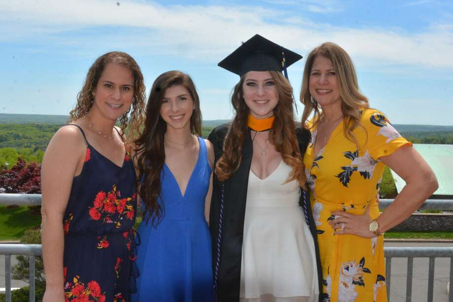 Quinnipiac University's health science and nursing undergraduate students graduated on May 18, 2019 at the Lender Center in Hamden. Photo: Vic Eng / Hearst Connecticut Media Group