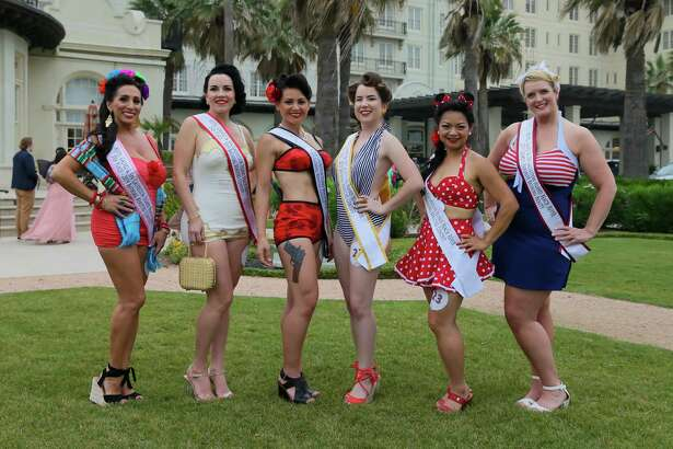 May 18, 2019: Scenes from the Bathing Beauties contest in Galveston Island, Texas.