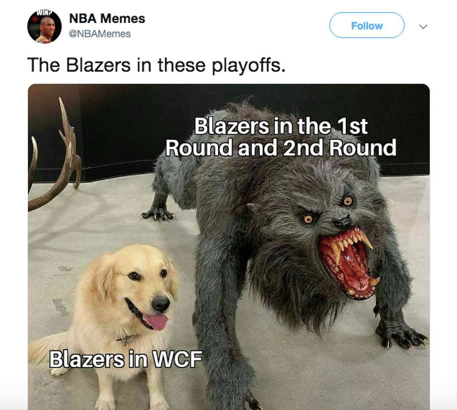 The Portland Trail Blazers were brutally roasted after blowing another double-digit lead to the Warriors. Photo: Twitter
