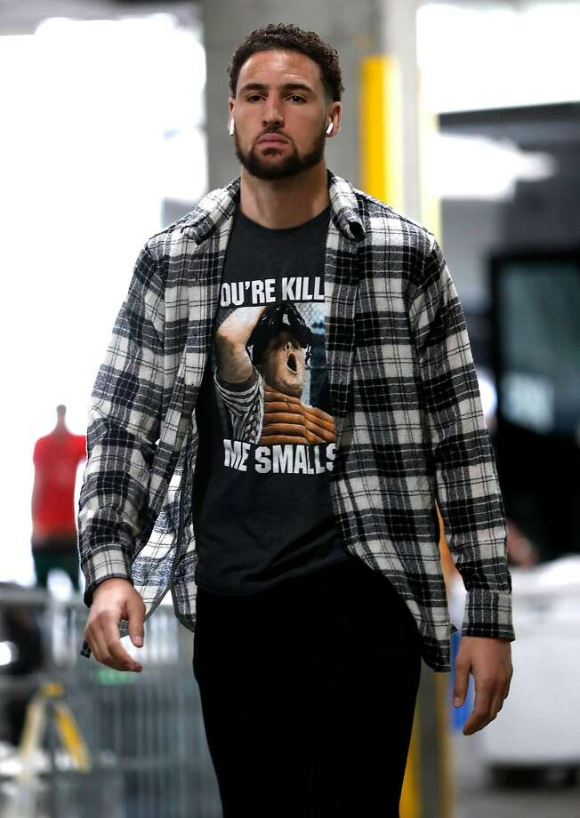 Golden State Warriors' Klay Thompson arrives before Game 3 of the NBA Western Conference Finals at Moda Center in Portland, Oregon on Saturday, May 18, 2019. Photo: Scott Strazzante, The Chronicle