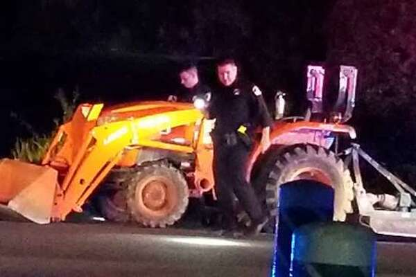 """A man was arrested May 17, 2019 after leading deputies on a """"very low speed"""" chase in his tractor through Rancho Cordova, the Sacramento County Sheriff's Office said."""