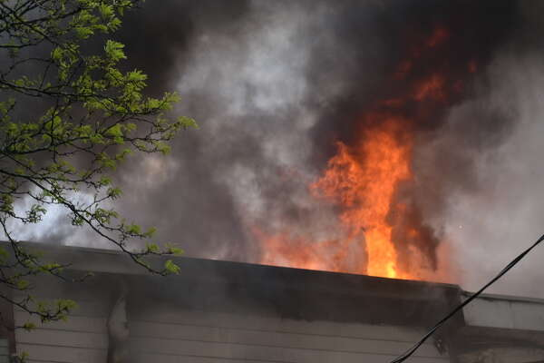 Firefighters battled a stubborn fire at 140 Bradford St., Albany early Sunday morning.