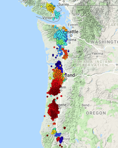 Researchers track bursts of tremors beneath Seattle, West Coast