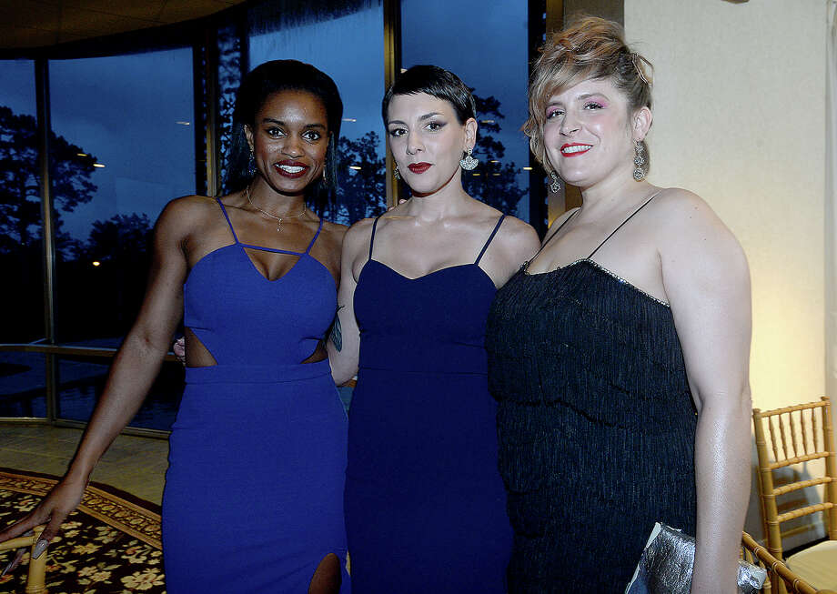 Farren Morris, Shanna Hawa and Marjorie Grace Mathis were at PFLAG Beaumont's annual Coming Out Ball Saturday at the Beaumont Country Club.  Photo taken Saturday, May 18, 2019 Kim Brent/The Enterprise Photo: Kim Brent/The Enterprise