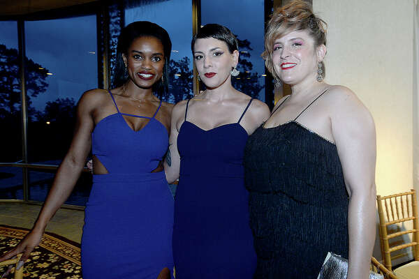 Farren Morris, Shanna Hawa and Marjorie Grace Mathis were at PFLAG Beaumont's annual Coming Out Ball Saturday at the Beaumont Country Club. Photo taken Saturday, May 18, 2019 Kim Brent/The Enterprise