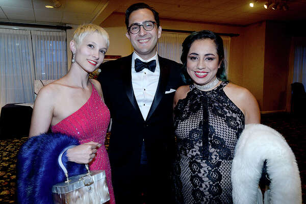 Larena and Carlo Busceme, IV, and Gina Garcia were at PFLAG Beaumont's annual Coming Out Ball Saturday at the Beaumont Country Club. Photo taken Saturday, May 18, 2019 Kim Brent/The Enterprise