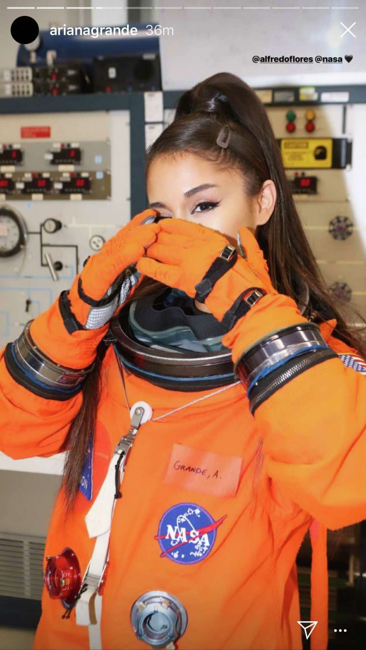 Ariana Grande spent time at NASA ahead of Sunday's Houston show.