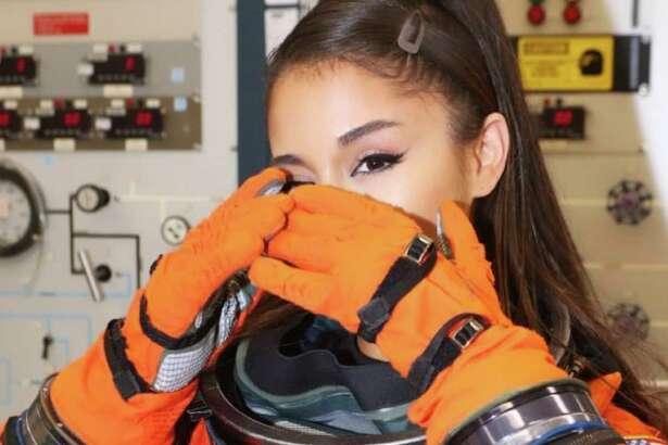 Ariana Grande spent time at NASA ahead of Sunday's Houston show.