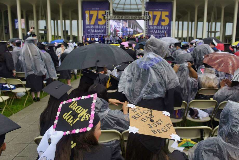 University at Albany graduates take part in the 175th commencement on Sunday, May 19, 2019, in Albany, N.Y.   (Paul Buckowski/Times Union) Photo: Paul Buckowski, Albany Times Union / (Paul Buckowski/Times Union)