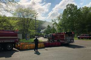 A fire was reported at the Francis J. Clarke Industrial Park in Bethel on Sunday, May 19, 2019.