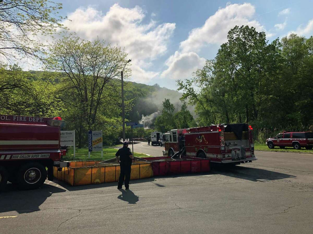A fire was reported at the Francis J. Clarke Industrial Park in Bethel on Sunday.