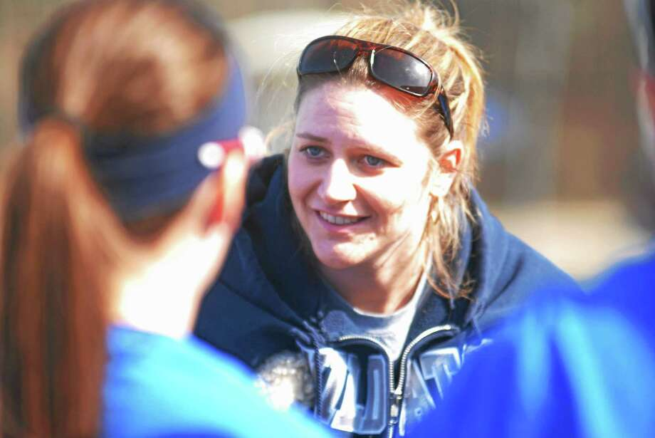 Coach Jenn Piazza-Laffin and the Mercy softball team punched their ticket to the tournament with a win over Lyman Hall on Friday. Photo: Hearst Connecticut Media File Photo