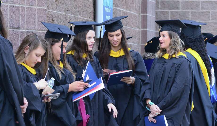 Western Connecticut State University held its commencement ceremony on Sunday, May 19, 2019, at the Webster Bank Arena in Bridgeport, Conn. Photo: Lisa Weir / For Hearst Connecticut Media / The News-Times Freelance