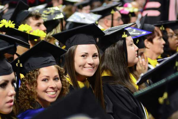 Western Connecticut State University held its commencement ceremony on Sunday, May 19, 2019, at the Webster Bank Arena in Bridgeport, Conn.