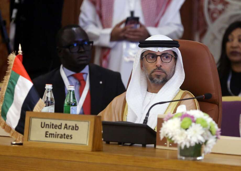 Minister of Energy of the United Arab Emirates, UAE, Suhail Mohamed Al Mazrouei attends a meeting of energy ministers from OPEC and its allies to discuss prices and production cuts, in Jiddah, Saudi Arabia, Sunday, May 19, 2019. Photo: Amr Nabil, Associated Press