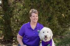 Therapy dog Izzy and handler Kelly
