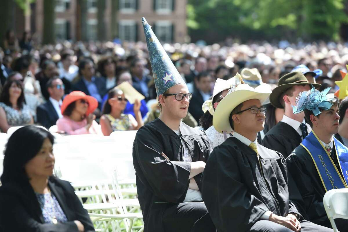 Class Day on Old Campus at Yale University in New Haven on May 19, 2019.