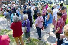 The town of Litchfield kicked off its 300th birthday celebration Sunday, May 19 2019 with an ecumenical service and speeches on the Green.