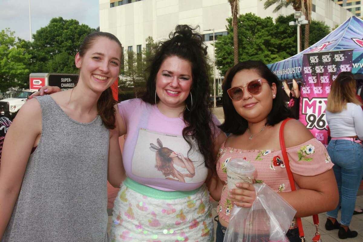 Fans attending the Ariana Grande concert at Toyota Center.