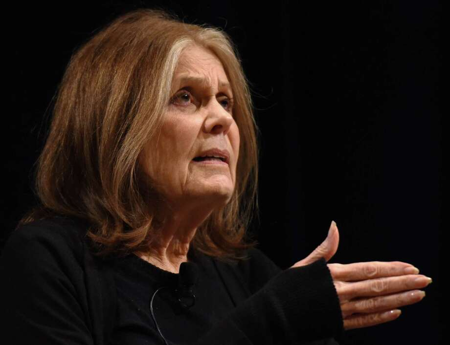 Gloria Steinem, seen speaking at an event on April 5, 2019, in Troy, N.Y., received an honorary degree Monday, May 20, 2019, at Yale University's 318th commencement. Photo: Phoebe Sheehan / Albany Times Union / 40046580A