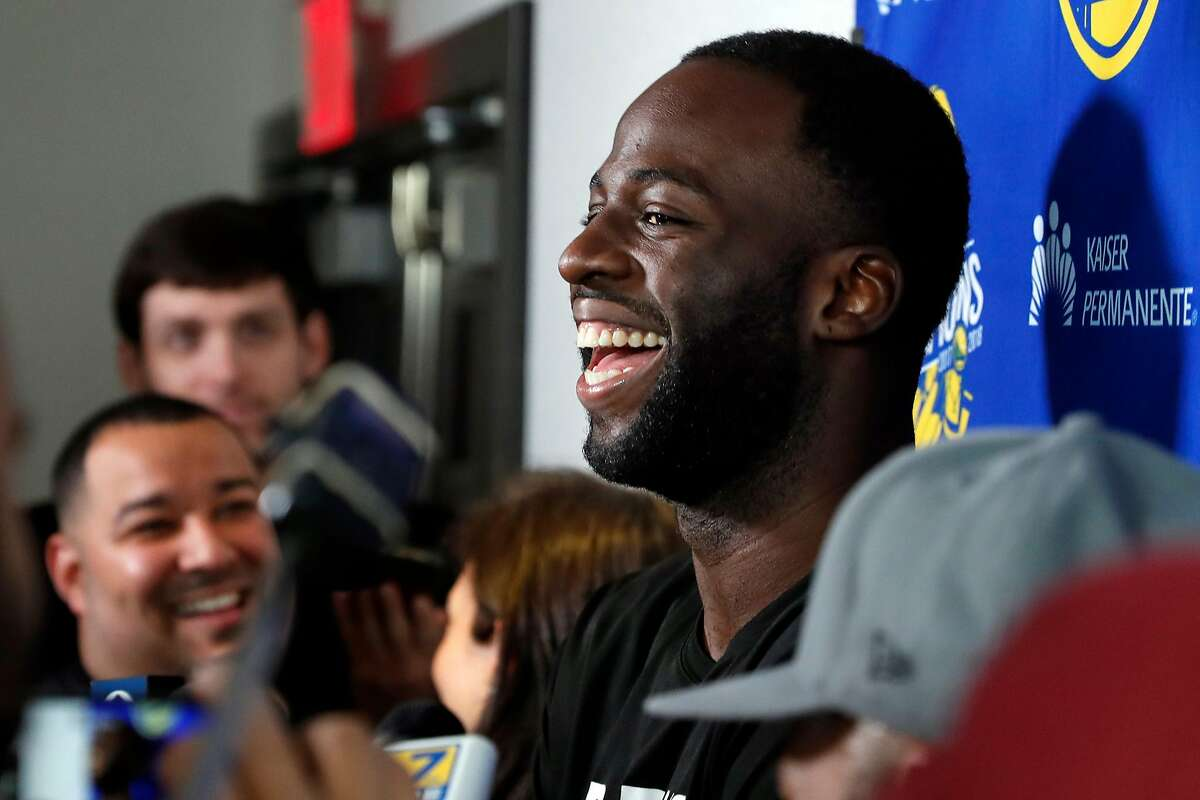 Golden State Warriors' Draymond Green during media availability at The Nines Hotel in Portland, Oregon on Sunday, May 19, 2019.
