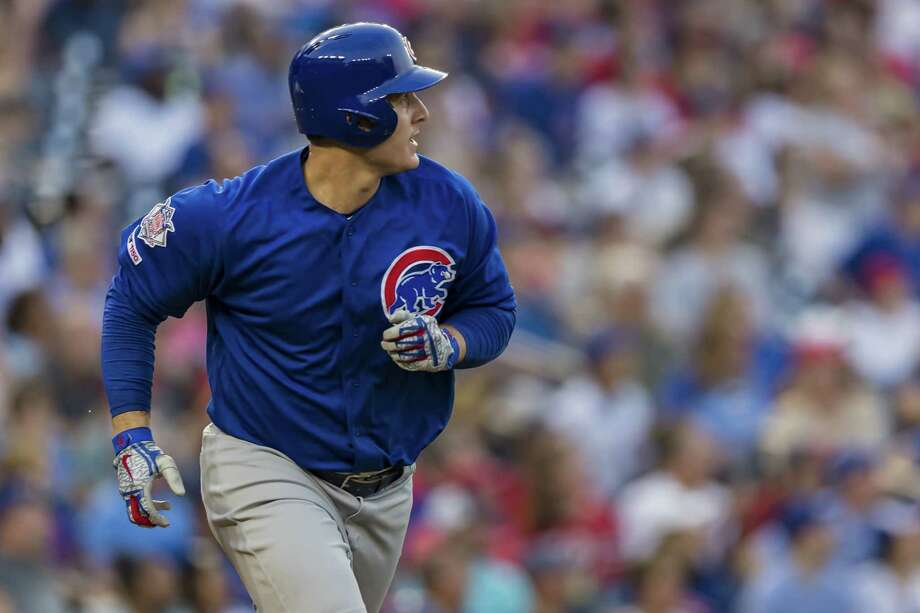 WASHINGTON, DC - MAY 19: Anthony Rizzo #44 of the Chicago Cubs hits a home run against the Washington Nationals during the third inning at Nationals Park on May 19, 2019 in Washington, DC. (Photo by Scott Taetsch/Getty Images) Photo: Scott Taetsch / 2019 Getty Images