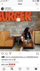 Singer Normani visited Whataburger in Houston.