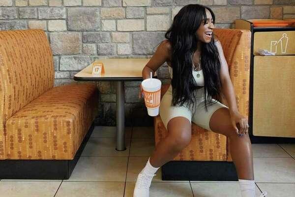Singer Normani visited Whataburger in Houston.