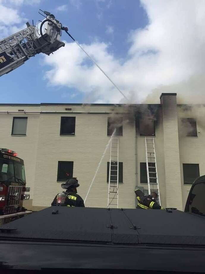 Firefighters responded to a two-alarm blaze at 210 South Main St. in Middletown on Sunday, May 19, 2019. Photo: Middltown Professional Firefighters Local 1073 Photo