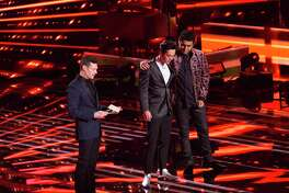 "Laine Hardy and Alejandro Aranda await the ""American Idol"" Season 17 finale results from host Ryan Seacrest."