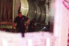 The victim, a man in his 40s or 50s, was sitting on the tracks just before 2 a.m. near Iowa Street and Cesar Chavez when he was struck.