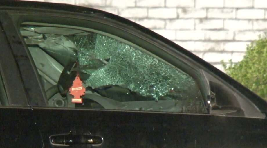 A man was killed late Sunday, May 19, after a hit-and-run at Interstate 45 and West Mount Houston. Police were working to find the identity of the driver overnight. Photo: Metro Video