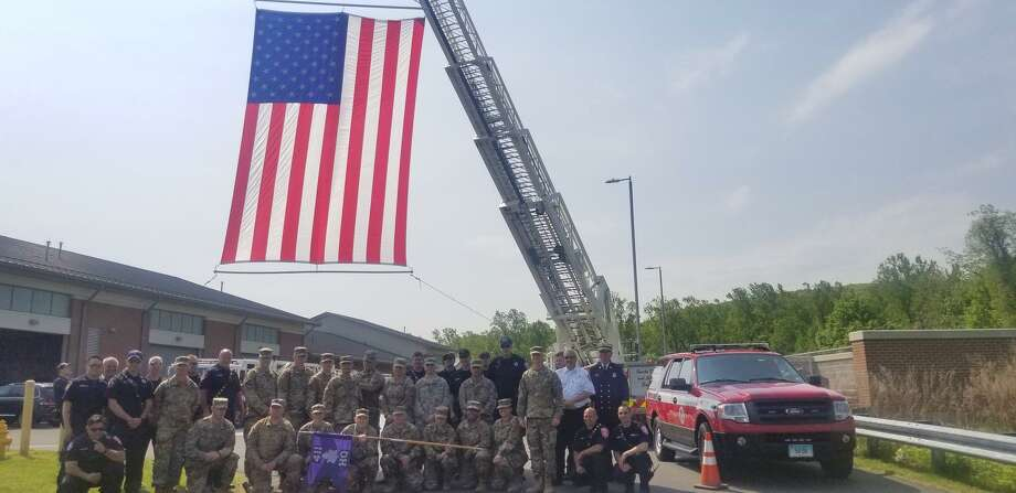 The 411th Civil Affairs Battalion was honored with a deployment ceremony on Sunday, May 19, 2019. Photo: Danbury Fire Department / Facebook