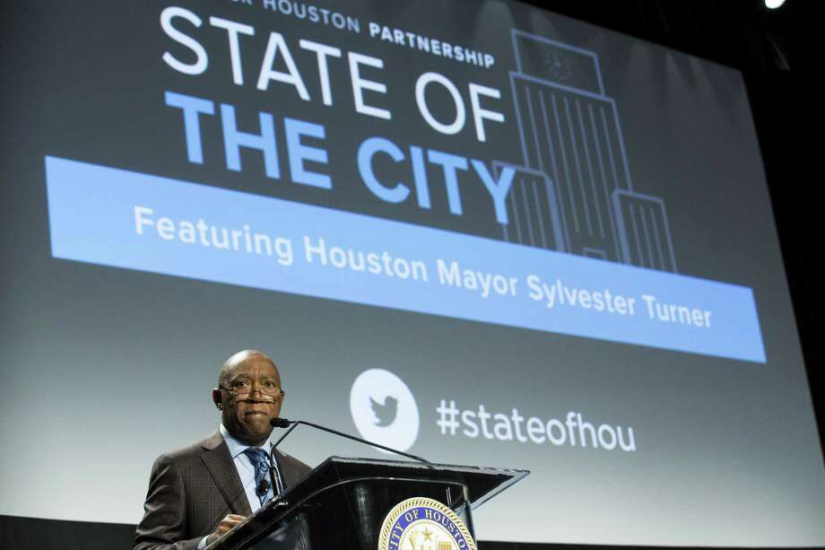 Mayor Sylvester Turner during last year's State of the City address, presented by the Greater Houston Partnership in Houston. ( Brett Coomer / Houston Chronicle ) Photo: Brett Coomer, Staff / Houston Chronicle / © 2018 Houston Chronicle