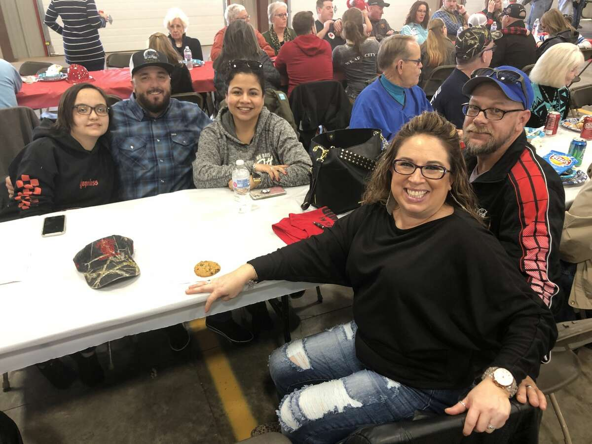 Greenwood VFD: Emily Cagle, back row from left, Jim Cagle and Jennifer Cagle; and Marisol Sutherland, front row, left, and Chris Southerland