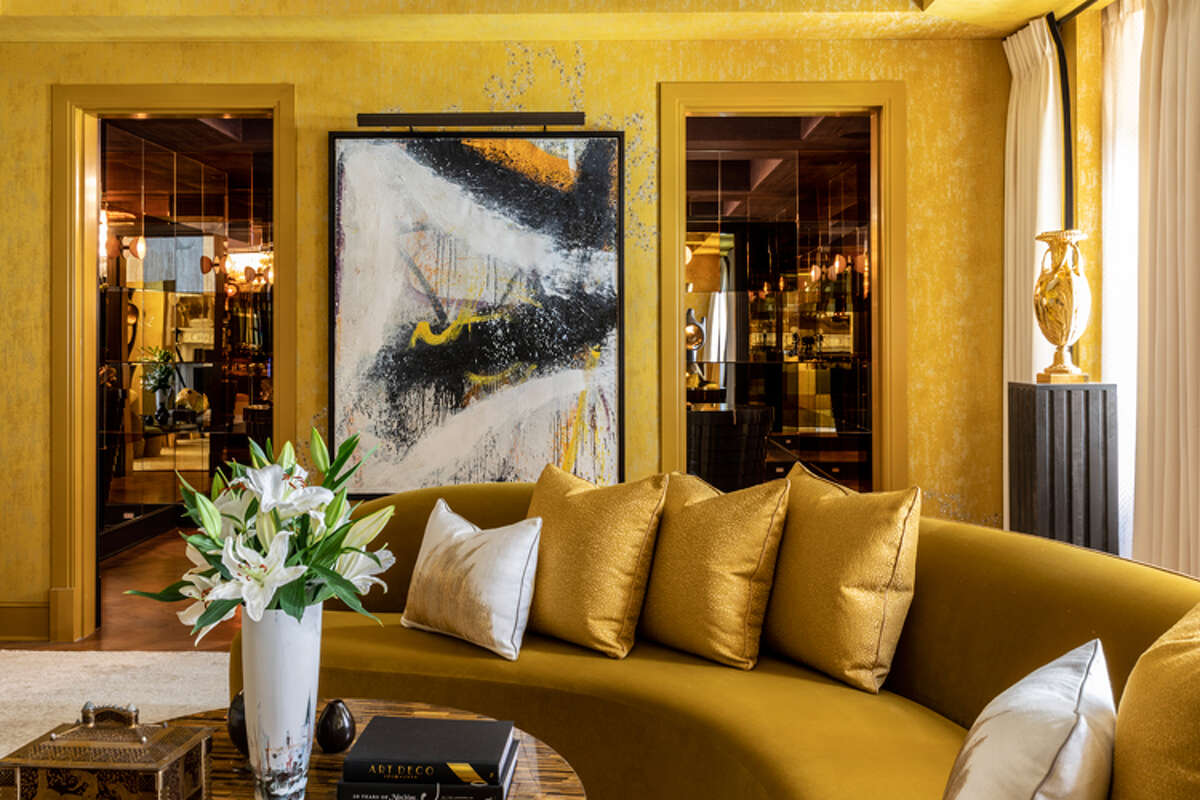 New York City-based interior design firm Drake/Anderson selected a bold, yet nuanced palette of saffron, ochres, and umber to envelope the plush, luxurious salon at the Kips Bay Decorator Show House last month. With several dialogues in concert - modernism and classicism, color and texture, materiality and form - the room harmoniously blends multiple design languages with grace and gravitas. - Marco Ricca photo