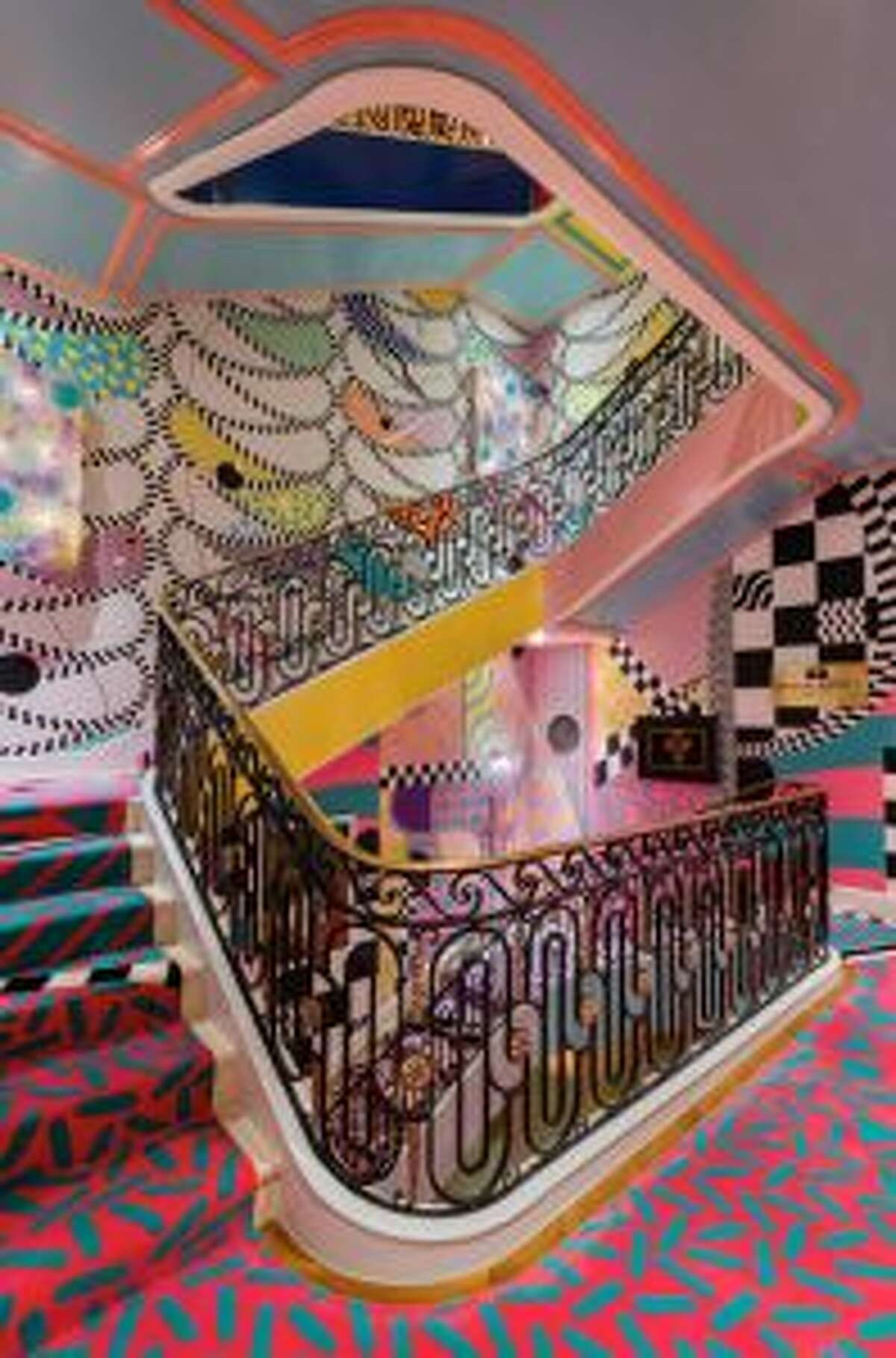Here, New York City-based interior designer Sasha Bikoff uses bright wallpaper, paint, and rugs to create a bold staircase at the Kips Bay Decorator Show House, making a bold splash in a space that is often overlooked. - Nickolas Sargent photo