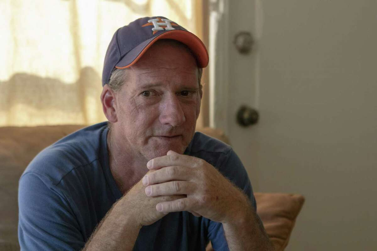 Bonnie's House resident David Miller recounts his experiences with the late Bonnie Quinn on Thursday, May 9, 2019 at Bonnie's House in Conroe. Bonnie's House offers recovering alcoholics and drug addicts a supportive living environment.