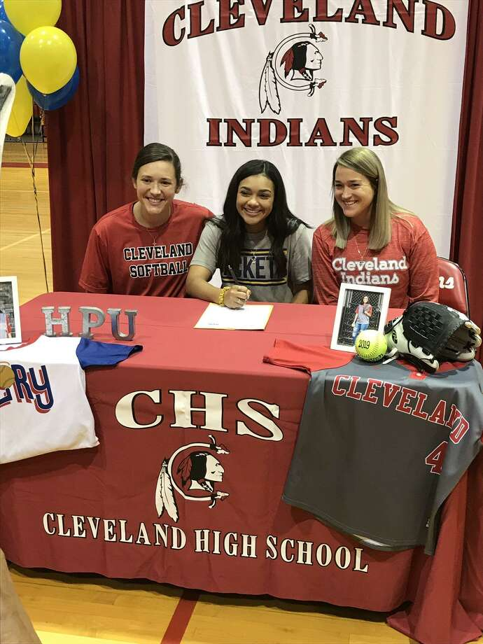 Cleveland softball player Araven Eleby committed to play softball at Howard Payne University. Photo: Cleveland ISD Contributed Photo