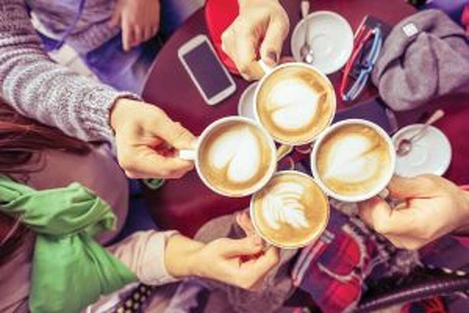Coffee enjoyed with a group of friends can warm hearts on cold winter days.