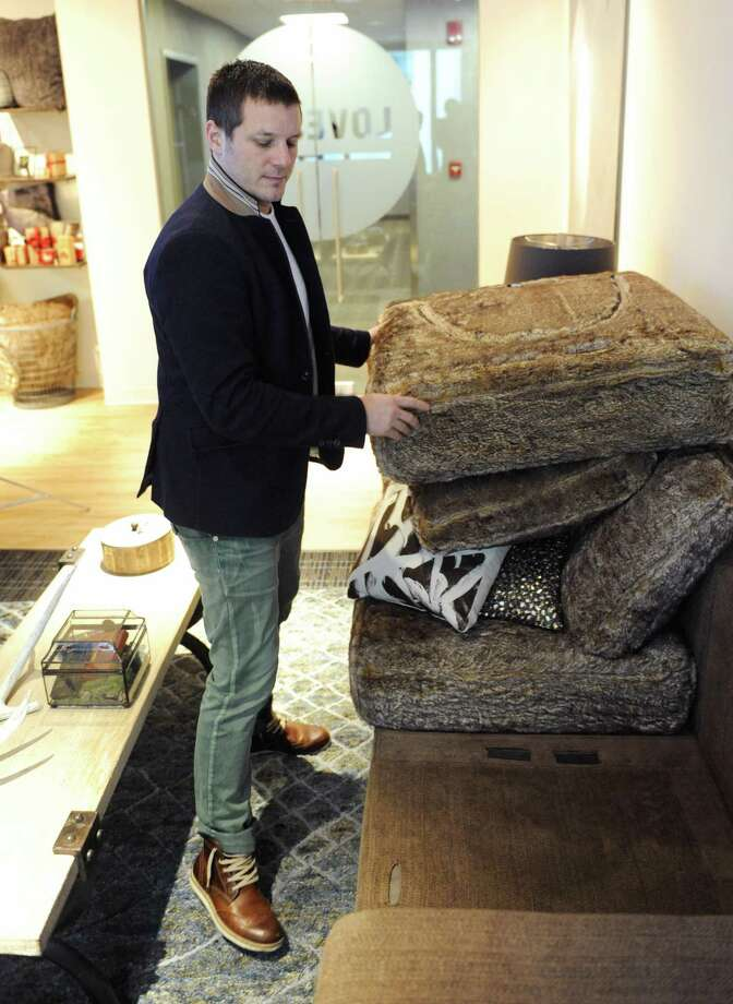 Shawn Nelson is founder and CEO of Stamford-based furniture retailer Lovesac Co. Photo: Tyler Sizemore / Tyler Sizemore / Greenwich Time