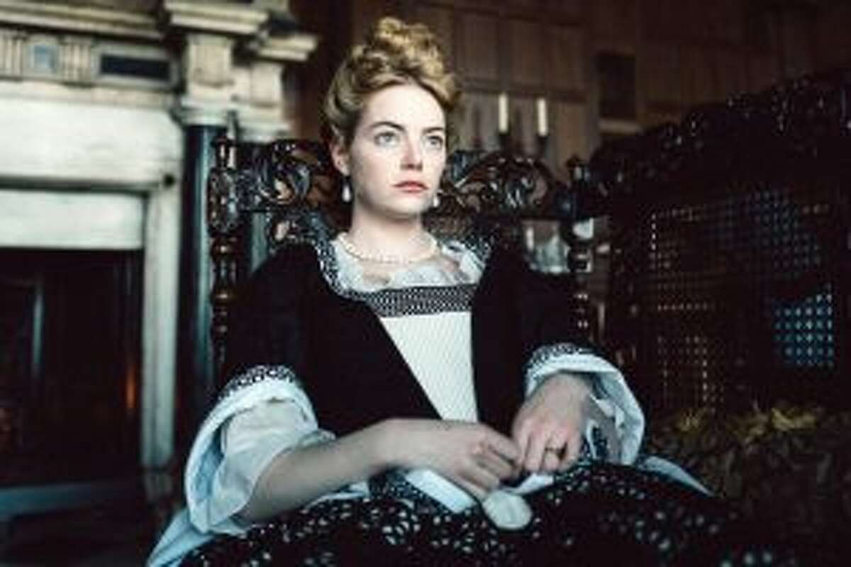 Emma Stone in the film The Favourite.
