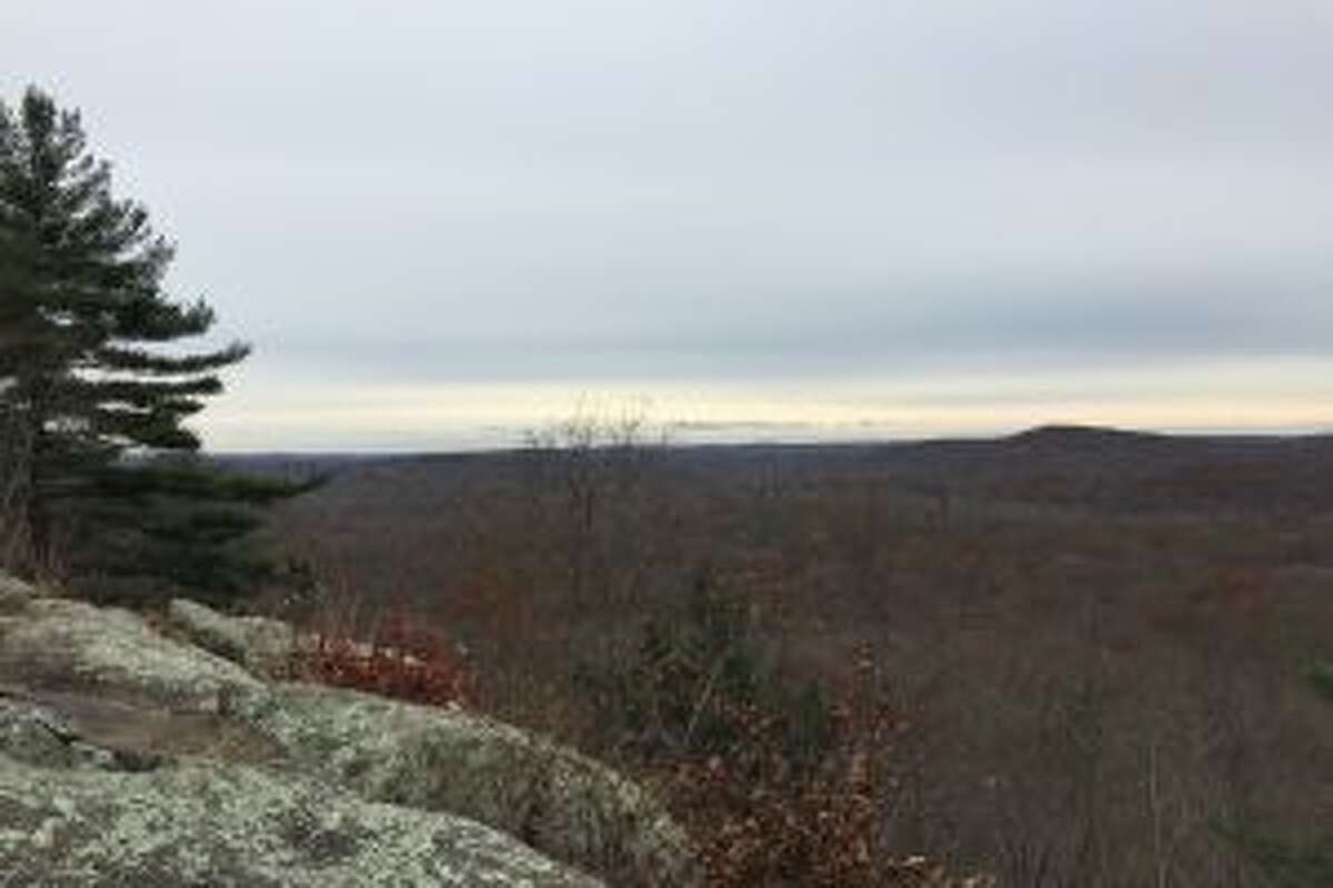 View from the Charles Ives cabin site at Pine Mountain in Ridgefield. - Rob McWilliams photo